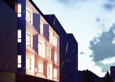 Rehabilitación de fachada en Mieres