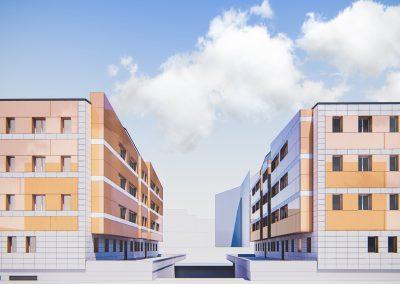 Rehabilitación de fachada en Noreña